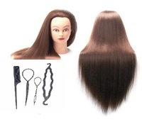 CAMMITEVER Mannequin Head Human Hair Styling Training Head Manikin Cosmetology Doll Head with Hair for Makeup Teaching