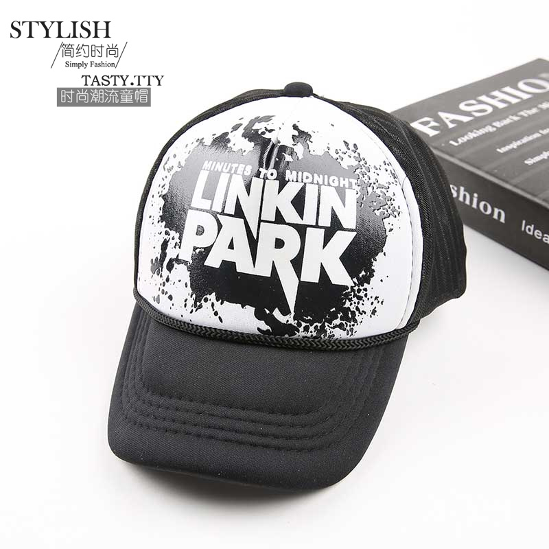 2016 Fashion Kids Hat Leisure Linkin Park Summer Caps Hip Hop Sponge Cap  Printing Baseball Cap for Children w 2016 Fashion Kids Hat Leisure Linkin  Park ... bca19acfed37