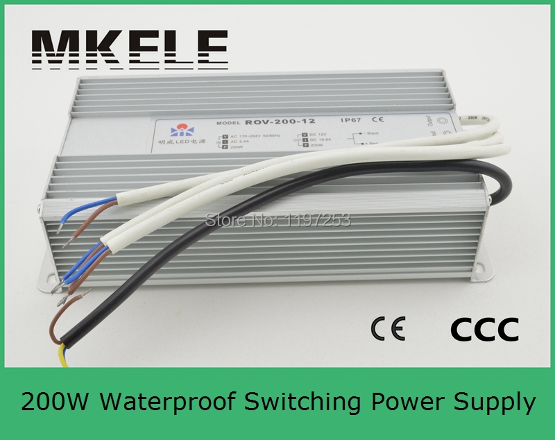 ФОТО CE approved high qualtity waterproof LED power supply rohs certified water-proof led power driver 200w FS-200-36 5.5A 36V