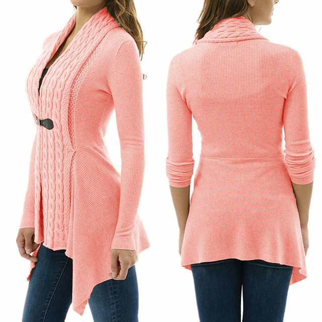 2020 new jacket Women Sexy V Neck Knitted cardigan Bandage Casual Pullover Jumper coat Tops Sweater femme autumn winter clothes 4