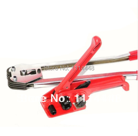 New 2014 Manual PET/PP Hand Strapping Tools ( Strapping Tensioner +Strapping Sealer) for 16/19mm Strpper Strapping Machine zonesun long hand pp pet plastic strapping cutter for pp pet strapping belt band tensioner and sealing max cut 16mm