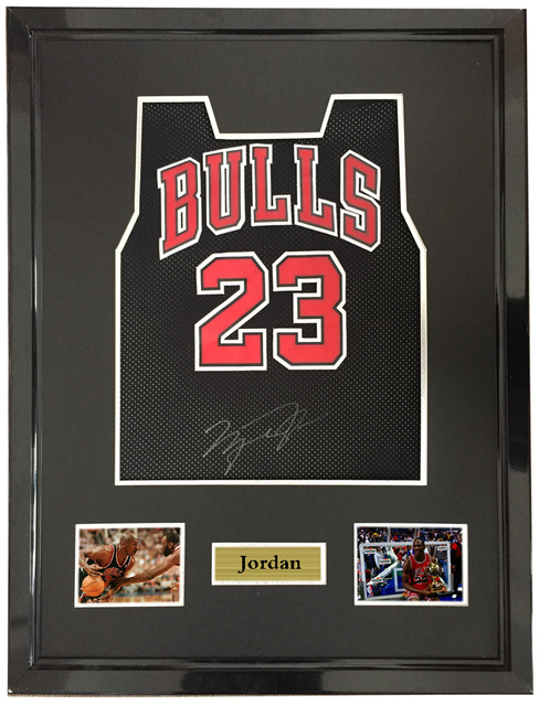 cheaper b1228 1cc42 US $1800.0 |Michael Jordan signed autographed basketball shirt jersey come  with Sa coa framed Bulls-in Frame from Home & Garden on Aliexpress.com | ...