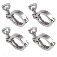 3.8 Cm Sanitary Ware Tri-Clamp Stainless Steel Single Needle Heavy Duty Tri Entrainment Wing Nut For Sleeve Tc 30 Inch (4 Pack