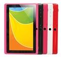 Barato Tablet PC Q88-A33 A33 MID-Cap de 7 polegada acitive tela + Android 4.4 + Quad Core Dual Camera + Wifi + 1.5 GHz Ultra-fino