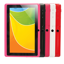 Barato Tablet PC Q88-A33 A33 MEDIADOS de 7 pulgadas Tapa acitive Screen + Android 4.4 + Quad Core de Doble Cámara + Wifi + 1.5 GHz Ultra-delgado