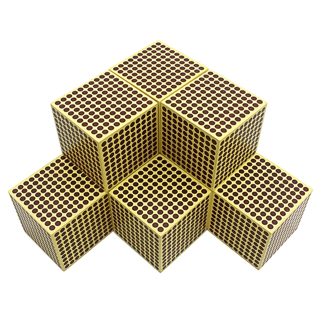9Pcs Baby Toy Montessori Materials 9 Wooden Thousand Cubes Maths Training Preschool Early Learning Kids Toys Brinquedos Juguete
