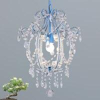 Nova suspensão de cristal led 3 w mini lâmpada do teto corredor varanda luzes sala estar iluminação interior