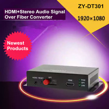 ZY-DT301 HDMI + Stereo Audio Sign Over Fiber Optic Converter 1080P HDMI Optical Video Extender 20km Over SC/FC Fiber Cable