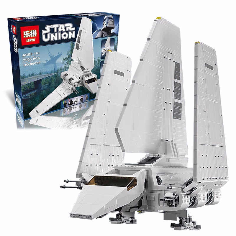 LEPIN 05034 Star War Series The Imperial Shuttle Building Blocks Bricks Assembled Toys Compatible with 10212 Gifts lepin 22001 pirates series the imperial war ship model building kits blocks bricks toys gifts for kids 1717pcs compatible 10210
