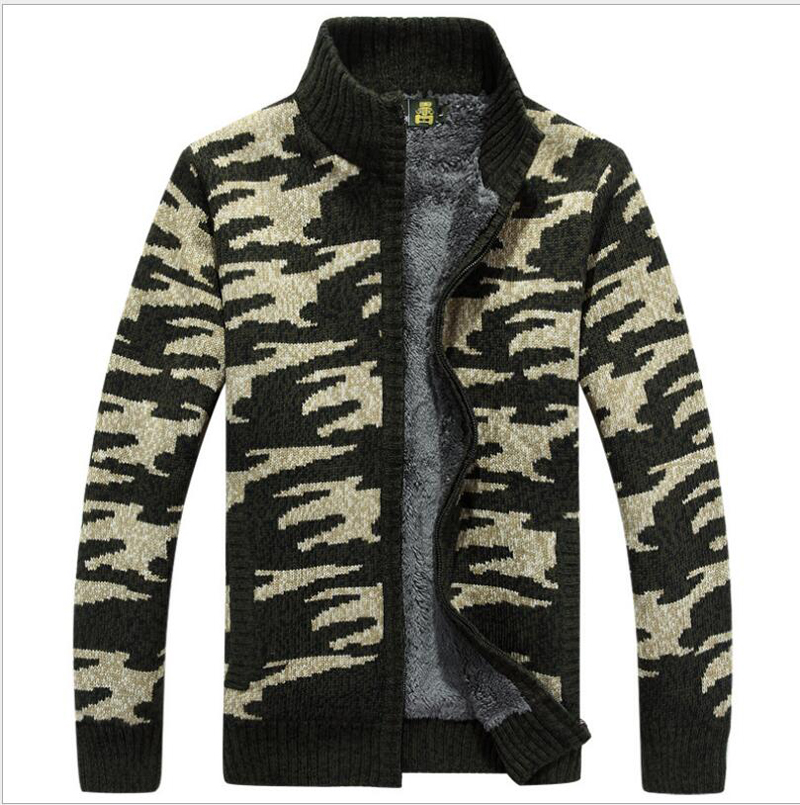 Aspiring New Arrival Sweater Afs Jeep Plus Velvet Men Thick Autumn Winter High Quality Cardigan Jacket Fashion Casual Size M-3xl For Improving Blood Circulation Sweaters