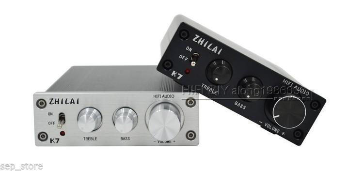 ZEROZONE ハイファイ TDA7498 デジタルアンプパワーアンプ 70 ワット * 2 + PSU 高音低音調整  グループ上の 家電製品 からの アンプ の中 1