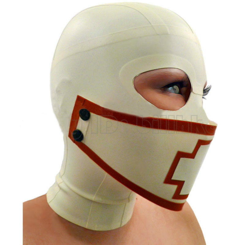 Sexy White Latex Hood Mask with Mouth Cover Rubber Unisex Mask Cosplay Club Wear bdsm mask bdsm bondage adult sex toys estimSexy White Latex Hood Mask with Mouth Cover Rubber Unisex Mask Cosplay Club Wear bdsm mask bdsm bondage adult sex toys estim