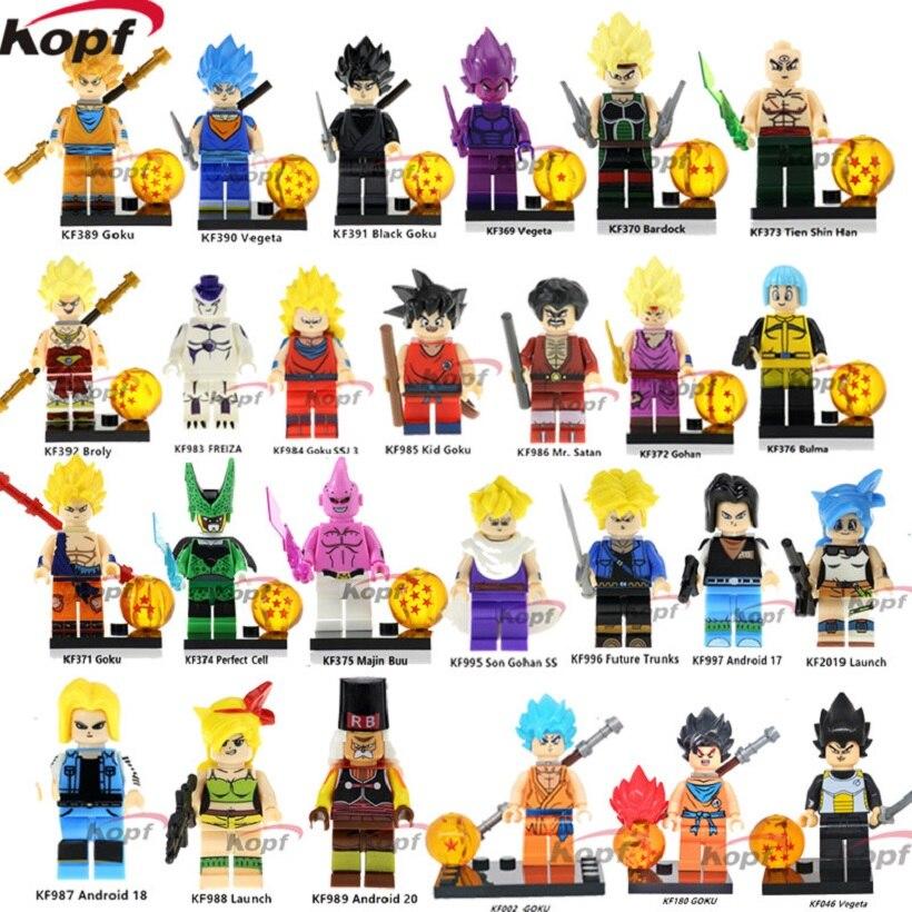 Building Blocks Single Sale Dragon Ball Z Figures Goku Vegeta Majin Gohan  Bulma Launch Future Trunks Freiza Toys for children 59afe68a7a08