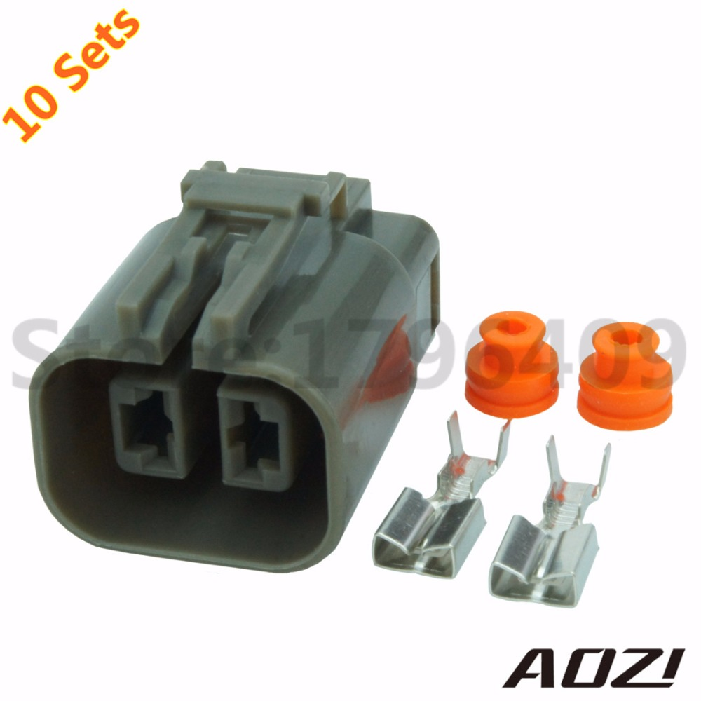 Ten Sets New 2 Pins 6.3mm Series H20 Generator Connector/Auto Wire ...