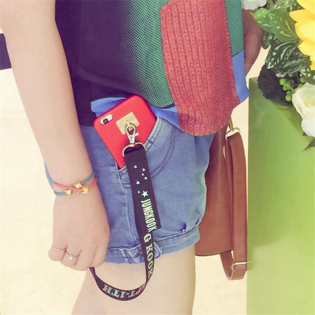 BTS Nylon Ribbon Key Chain