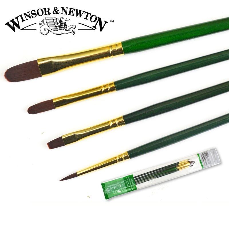 Winsor&Newton 6604 fine Nylon Paintbrushes Oil Acrylic paint brushes painting supplies 4pcs/set michael newton hinge saatus