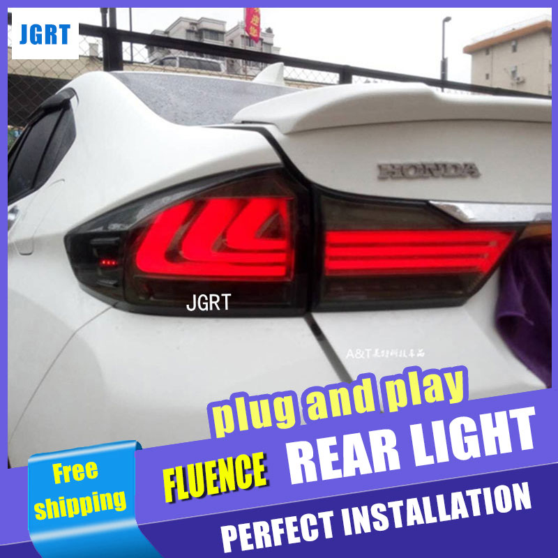 Car Styling for Honda city LED Tail Lights 2015 Tail Light new city Rear Lamp DRL+Brake+Park+Signal led lights