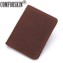 CONFORSKIN Slim Short Men Wallets Vintage Genuine Crazy Horse Leather 100% New Arrivals 2017 Folio Purses Male Card