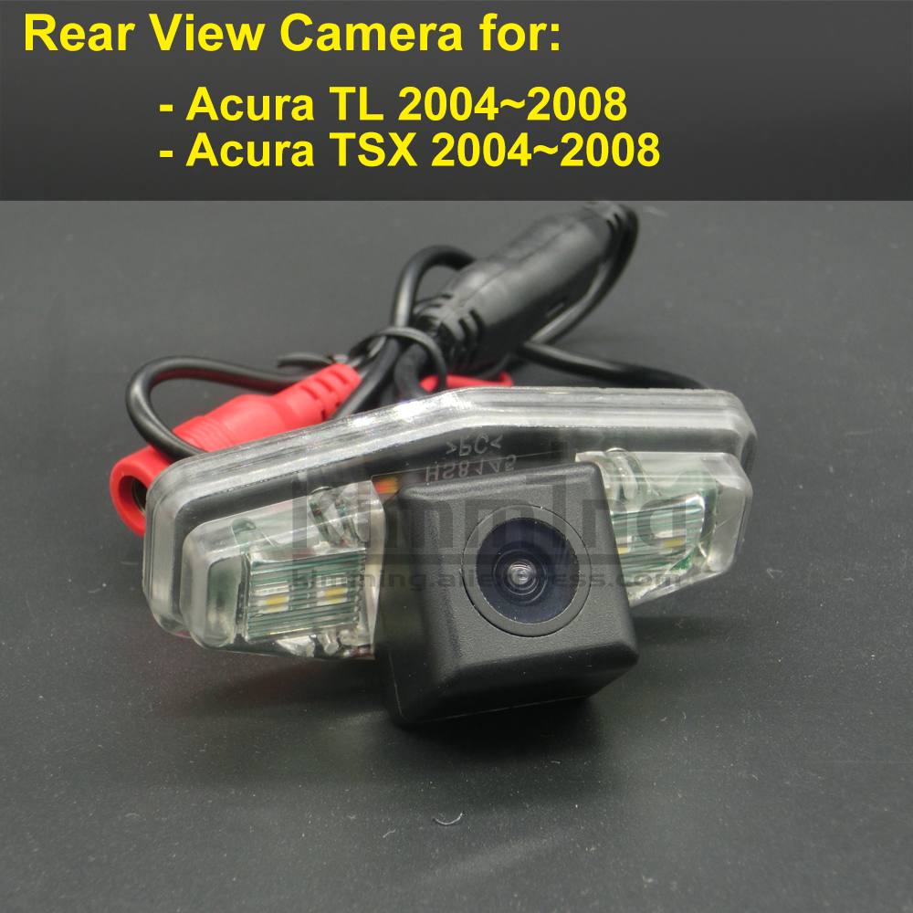 Car Rear View Camera for <font><b>Acura</b></font> TL <font><b>TSX</b></font> 2004 2005 <font><b>2006</b></font> 2007 2008 Wireless Wired Reversing Parking Backup Camera CCD RCA HD image