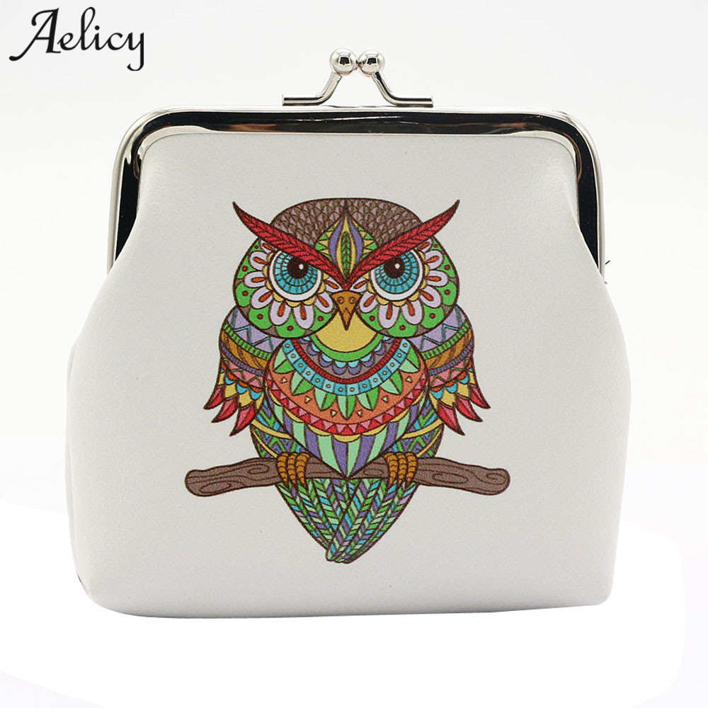 Aelicy Lady Retro Vintage Women's Purse Women Wallet Women Card Holder Coin Animal Printed PU Leather Small Hasp Purses Clutch new fashion women lady retro vintage flower print small wallet hasp purse clutch bag girl classical coin card money purse jan16