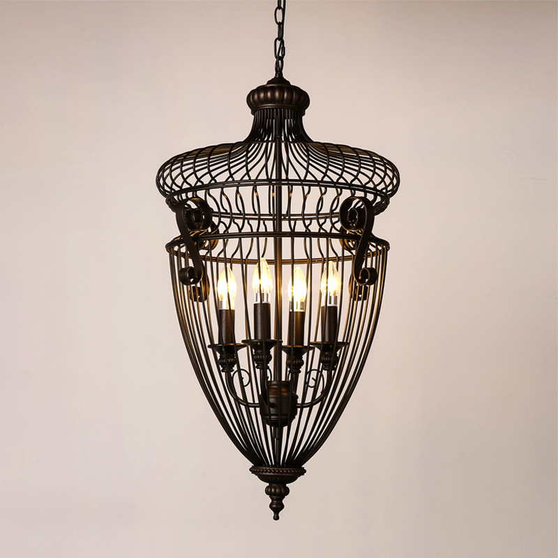 American iron cage loft retro style Cafe 1st Industrial staircase candle package mail Pendant Lights lo81213 the candle cafe cookbook