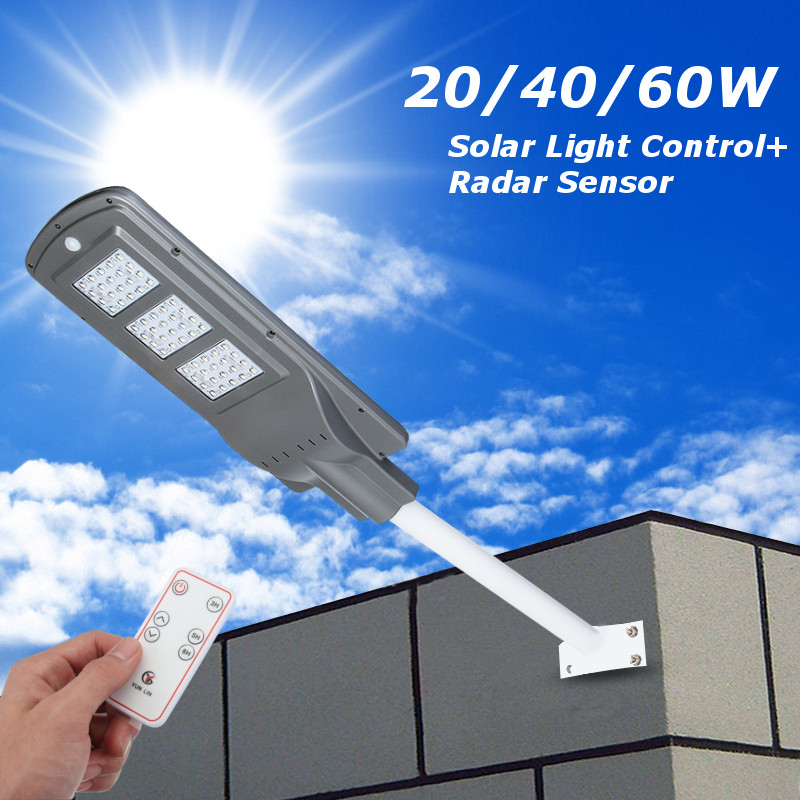 Sumxi 20 40 60w Outdoor Waterproof Solar Street Light Led
