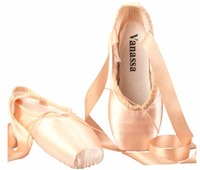 WENDYWU girls casual shoes silk ballet shoes child and Adult ballet pointe dance shoes pointe shoe pink size34 44