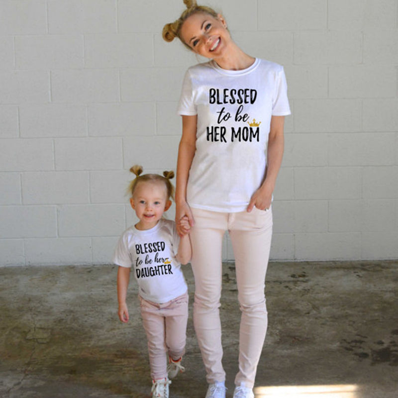 Blessed to be Her Mother Daughter Household Matching Shirt Informal T-shirt Tops Garments Outfits Informal Tshirt household matching, mother daughter, household matching shirts,Low-cost household matching,Excessive High quality mother daughter,...