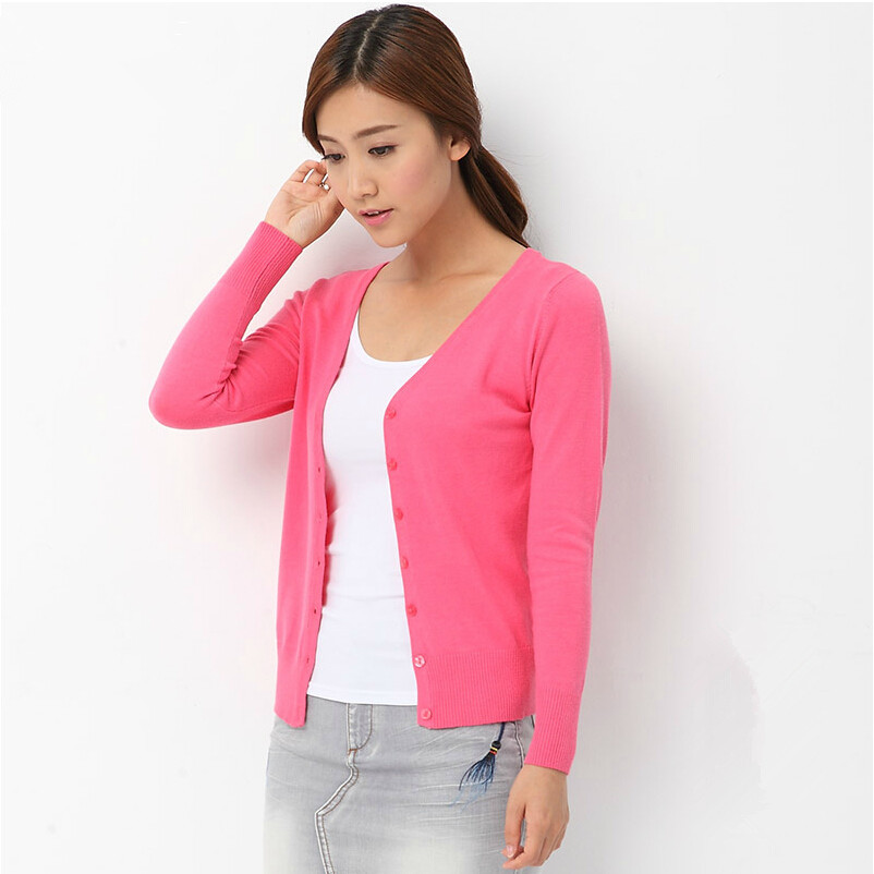 Wool Knitted Korean Style Sweater Women Cardigan Femme Big Size ...
