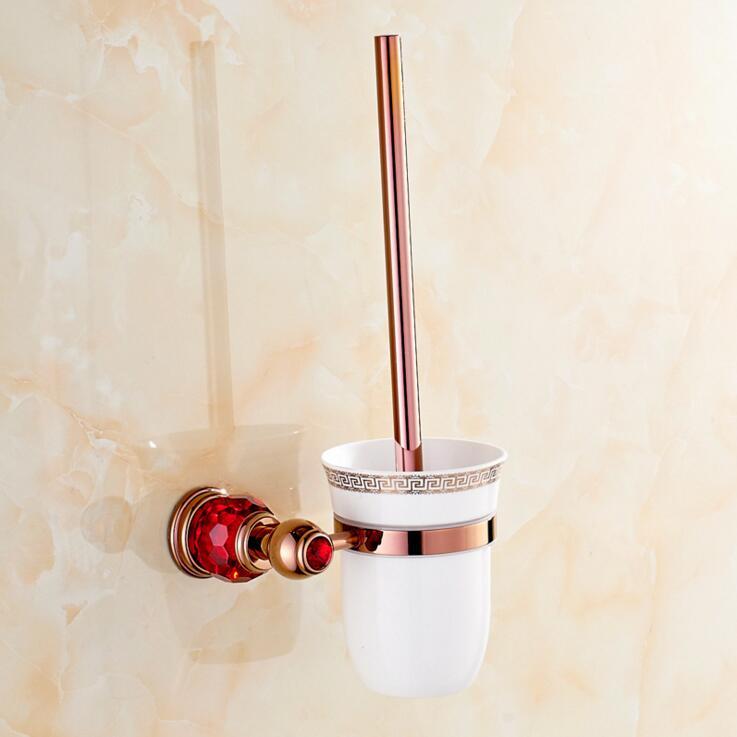 Rose D\'or Polonais En Laiton Avec Cristal Toilettes Supports de ...