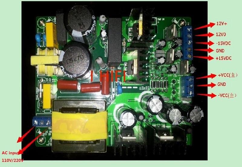 Digital Power Supply Board 500W AC100-120V 200-240V for Amplifier HBP500W