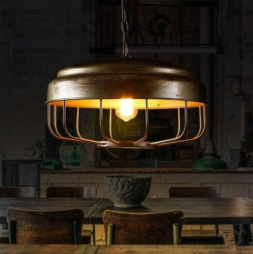 ᐂNórdico loft estilo hierro arte droplight Edison colgante ...