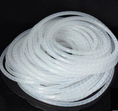 6mm 15 m/rolle Schlauch schutz draht fall schlauch rohr kabel finishing linie mit festen bündel von draht transparent Schutz Draht Wind