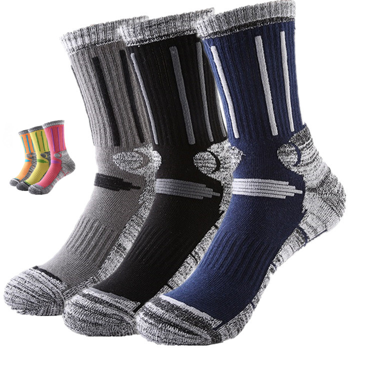 2 Pairs/Lot New Brand Winter Men Women Thicken Outdoor Skiing Socks Breathable Thermal Terry Hiking Sport Calcetines Terry Socks