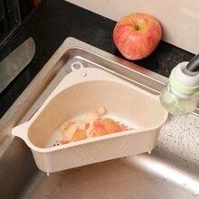 Кухонная треугольная корзина для хранения на присоске для кухонной стойки, сливная корзина, бытовая стойка для хранения