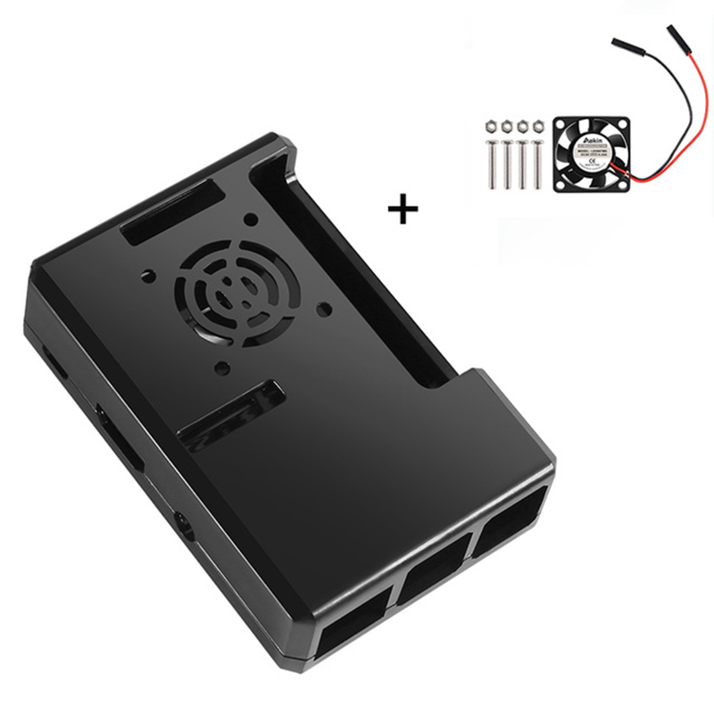 Black Transparent Raspberry Pi 3 Case Raspberry Pi Abs Protective Shell Removable Cover Case With Cooling Fan Case Kit