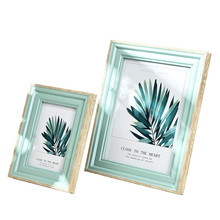 1 Pcs Quality Resin Photo Frame For Table Modern 14 Colors Picture Frames Home Decor Delicacy Picture Frame marcos para fotos(China)