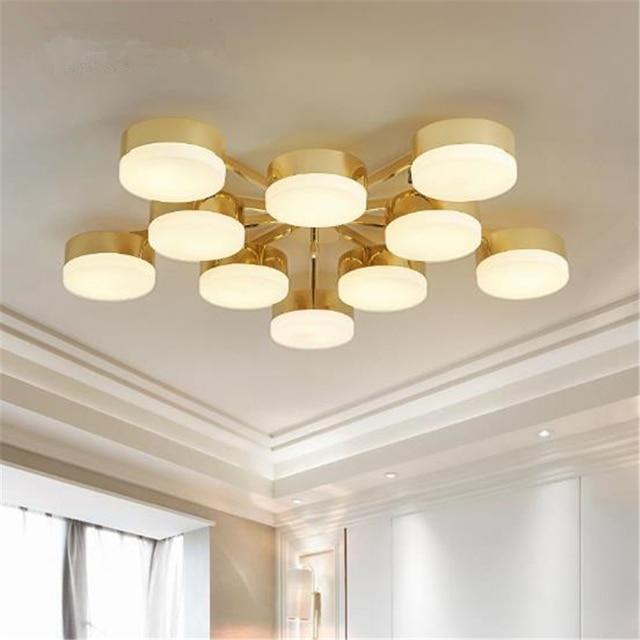 Wunderbar Gold Farbe Nordeuropa Moderne Kreative Deckenleuchte Wohnzimmer Schlafzimmer  Restaurant Dekoration Lampe Freies Verschiffen