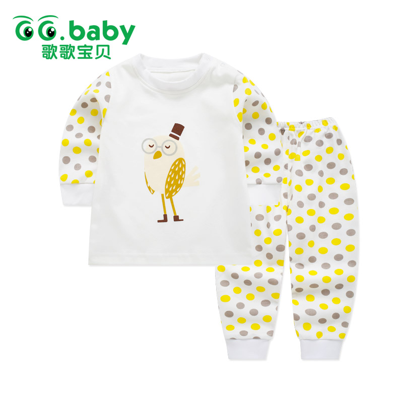 Dot Print Owl Newborn Infant Baby Clothes Set Girls Long Sleeve Cotton Baby Set Clothing Newborn Suits Outfits Baby Pajamas Sets baby boy set clothes winter baby lion girl sets clothing cotton new born long sleeve pajamas set baby outfit girls toddler suits