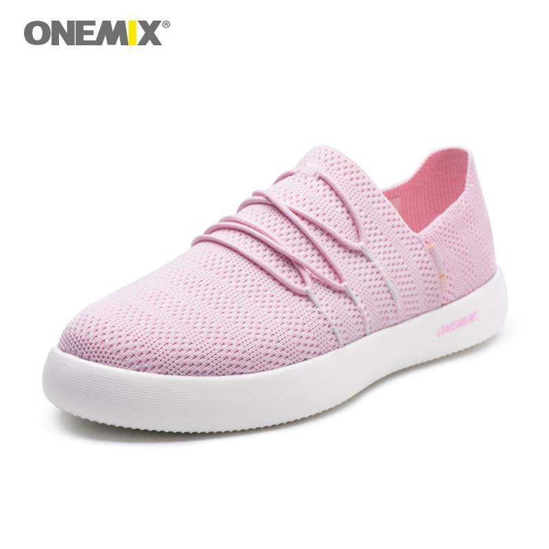 ONEMIX Sneakers for Women Lazy Slip on Running Shoes Breathable Mesh Run Walking Sport Trainer Sneaker Fitness Sport Street Shoe