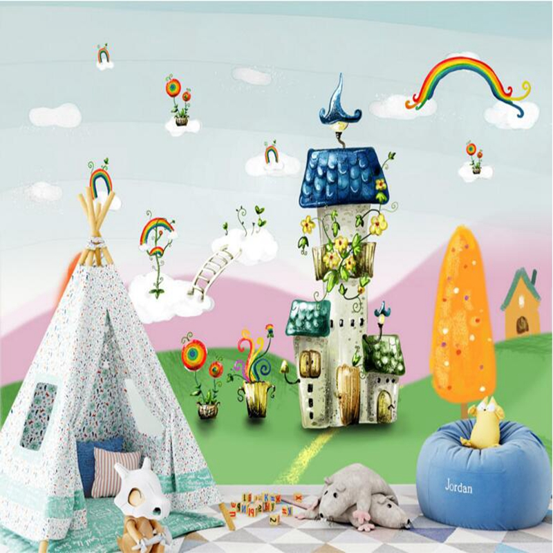 Baby Wallpaper Childrens Room Decor Fresh Blue Sky Castle Children Room Bedroom Picture Wall Paper Kids Room Wallpaper Bedroom wilson r ed longman childrens picture dictionary 2 cd