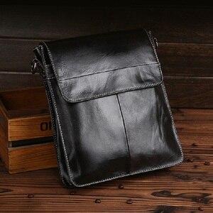 Image 3 - Norbinus hakiki deri çanta erkekler Messenger omuz çantaları dana Crossbody çanta erkekler için iş deri çantalar küçük evrak çantası