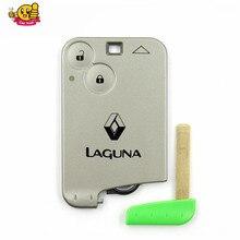 Для Renault Laguna удаленный ключевой 2 кнопки Smart Remote ключ 433 мГц для Renault Laguna смарт-карты ФОБ Лидер продаж Бесплатная доставка
