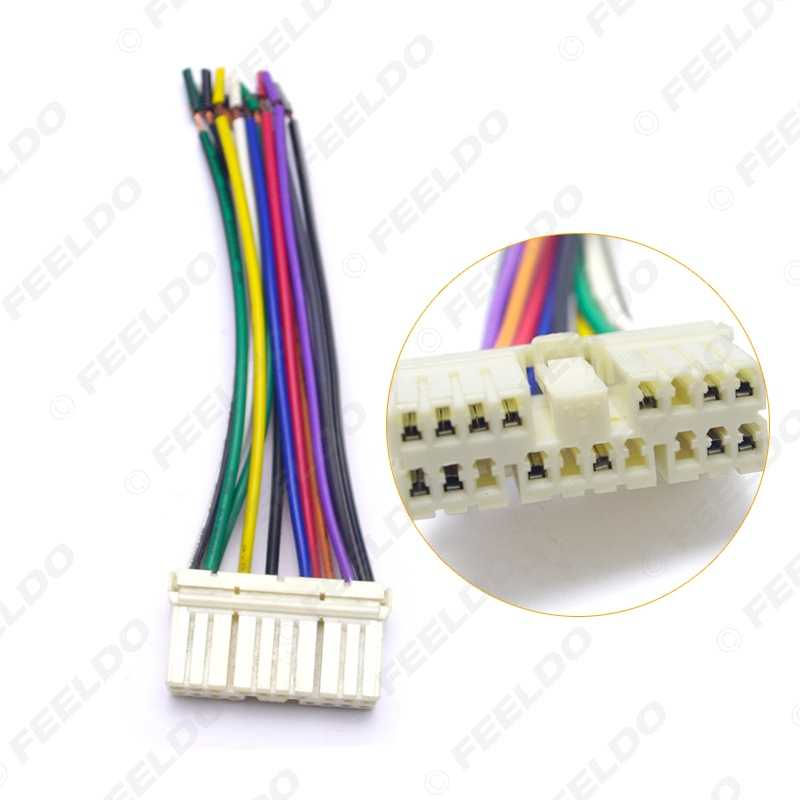 leewa car audio radio stereo wiring harness adapter male plug for  daewoo ssang yong actyon/