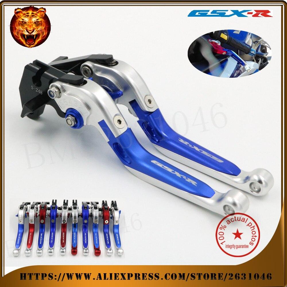 For SUZUKI GSXR 600/750 GSXR600 GSXR750 96-03, GSXR1000 01-04 Motorcycle Adjustable Folding Extendable Brake Clutch Lever red new motorcycle adjustable folding extendable brake clutch lever for suzuki gsxr 600 750 gsxr600 gsxr750 96 03 gsxr1000 01 2004