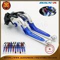 For SUZUKI GSXR 600/750 GSXR600 GSXR750 96-03, GSXR1000 01-04 Motorcycle Adjustable Folding Extendable Brake Clutch Lever red