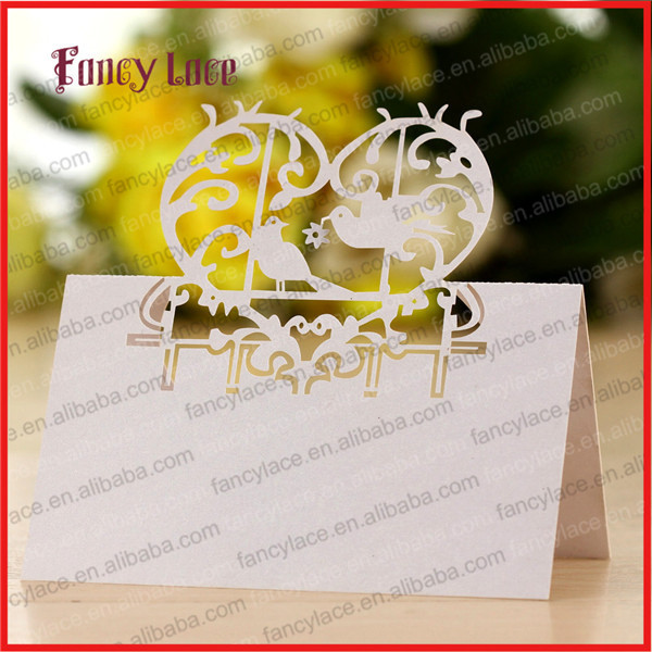 50PCS Hot Sale Laser Cutting Love Bird Wedding Invitation Paper Table Card,  Elegent Place Name Cards Unique Wedding Party Decor In Cards U0026 Invitations  From ...