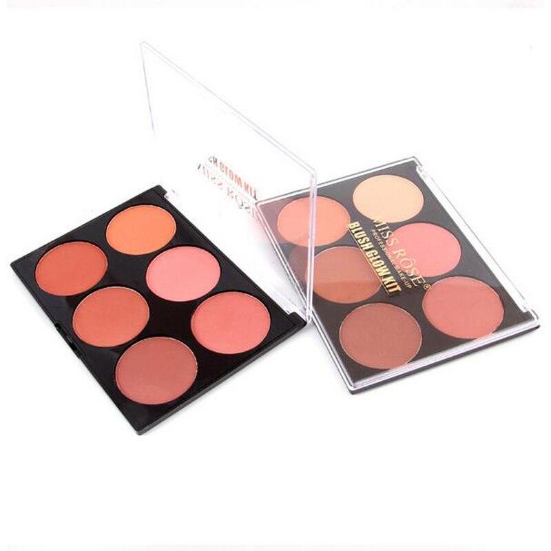 MISS ROSE Brand font b Makeup b font Beauty Blush Palette 6 Colors Soft Natural Mineral