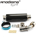 E-MARK Motorcycle Exhaust middle pipe + Muffler for YAMAHA R3 2015-2016