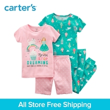 Carter's 4-Piece baby children kids clothing Girl Summer Snug Fit Cotton PJs 13241521